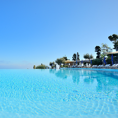 Panoramic pool luxury hotel Capri