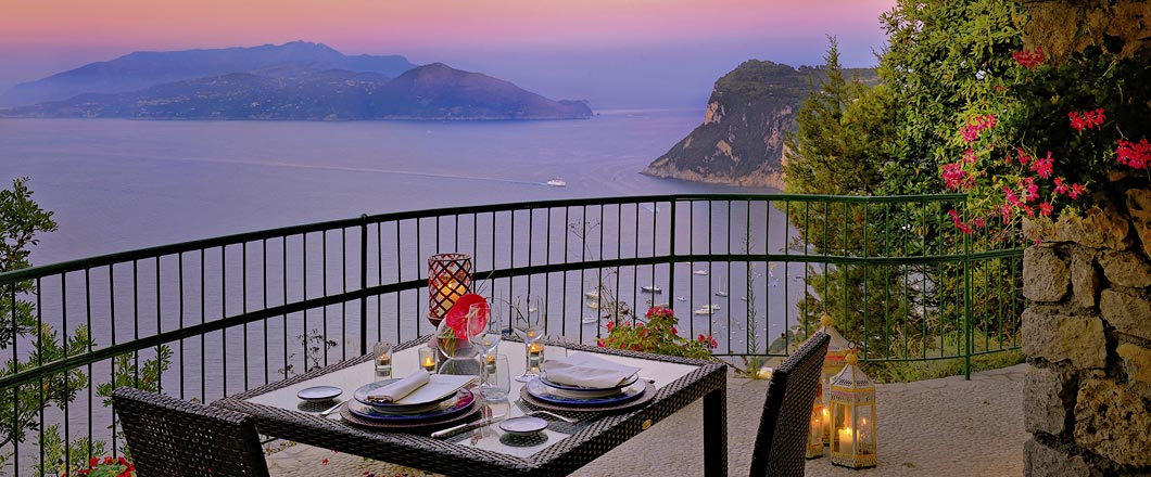 Restaurant La Terrazza di Lucullo - Caesar Augustus, Capri, Italy