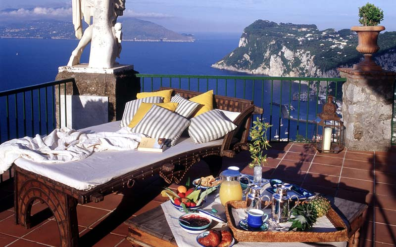 The most panoramic hotel on the Italian island of Capri: the five ...